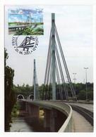 2011 SERBIA,BELGRADE,MAXIMUM CARD,FD CANCELLATION,SCIENCE,BRIDGES,LIBERTY BRIDGE,NOVI SAD,DANUBE - Serbia