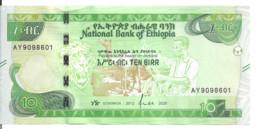 ETHIOPIE 10 BIRR 2012-20 UNC P New - Ethiopia
