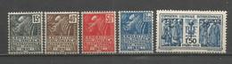 Timbre De France Exposition Coloniale Neuf **  N 270 / 274 - Ongebruikt
