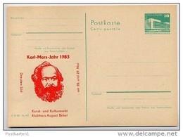 DDR P84-18-83 C26 Postkarte Zudruck KARL-MARX-JAHR DRESDEN 1983 - Privatpostkarten - Ungebraucht
