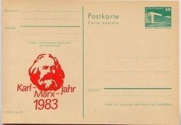 DDR P84-8-83 C19 Postkarte Zudruck KARL-MARX-JAHR DRESDEN 1983 - Privatpostkarten - Ungebraucht