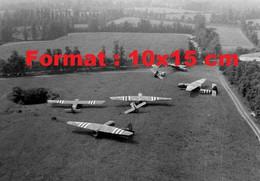 Reproduction Photographie Ancienne D'épaves D'avions Piper Cub En Normandie En 1944 - Reproductions