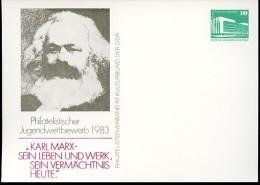 DDR PP18 C1/001 Privat-Postkarte KARL MARX Berlin 1983  NGK 3,00 € - Privatpostkarten - Ungebraucht