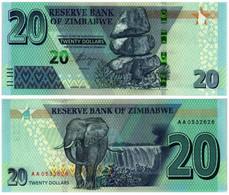 ZIMBABWE 20 DOLLARS 2020 P NEW - UNC (HYBRID) - Zimbabwe