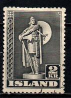 ISLANDA - 1939 - STATUA DI THORFINN KARLSEFNI - ESPLORATORE ISLANDESE - USATO - Gebraucht