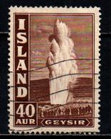 ISLANDA - 1939 - GEYSER - VALORE DA 40a - USATO - Gebraucht