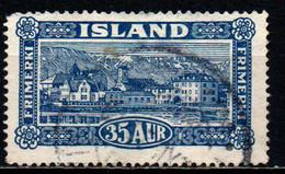 ISLANDA - 1925 - View Of Reykjavik - USATO - Gebraucht
