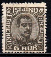 ISLANDA - 1920 - EFFIGIE DI CRISTIANO X - VALORE DA 6 A GRIGIO - USATO - Gebraucht