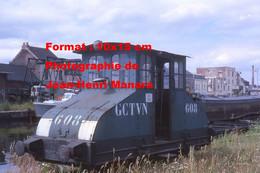 ReproductionPhotographie D'un Tracteur De Péniches CGTVN 608 à Valenciennes En 1963 - Reproductions