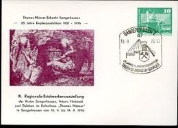 DDR PP16 D2/054a Privat-Postkarte THOMAS-MÜNZER-SCHACHT KUPFER Sangerhausen Sost. 1976  NGK 8,00 € - Privatpostkarten - Gebraucht