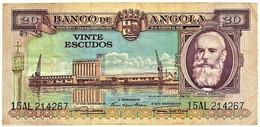 Angola - 20 Escudos - 15.08.1956 - Pick 87 - Série 15 AL - Silva Porto - PORTUGAL - Angola