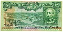 Angola - 50 Escudos - 15.08.1956 - Pick 88 - Série 50 S - Henrique De Carvalho - PORTUGAL - Angola
