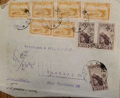J) 1934 SERBIA, LANDSCAPE, MULTIPLE STAMPS, AIRMAIL, CIRCULATED COVER, FROM SERBIA TO HAMBURG - Serbia