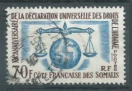 Cote Des Somalis YT N°318 Déclaration Universelle Des Droits De L'homme Oblitéré ° - Oblitérés