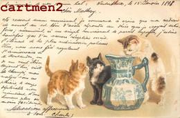 CHATS CAT ILLUSTATEUR CHAT KAT LITHO ANSTALT MÜNCHEN ENVOI A ORBE SUISSE 1899 - Cats