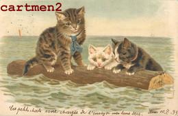 CHATS CAT ILLUSTATEUR CHAT KAT LITHOGRAPHIE ENVOI A ORBE SUISSE 1899 - Cats