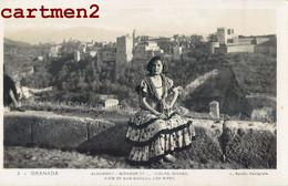 GRANADA ALHAMBRA MIRADOR GITANA GIPSY GIPSIES GITANE ESPANA TRAJE DE COSTUMBRE L. ROISIN FOTOGRAFE - Granada
