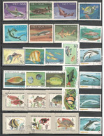 Vietnam Stamps Fish Stamps Topical Stamps Sets And Singles Nice Mixed Lot Used - Vietnam