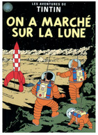 (NN 5) Posted From Netherlands - Tintin On The Moon (with 2 EUROPA Stamp)l - Fumetti