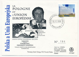 POLOGNE - La Pologne Et L'Union Européenne - Lech Walesa - 15/12/994 - Lettres & Documents