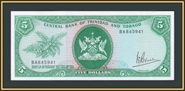 Trinidad & Tobago 5 Dollars 1964 (1977) P-31 (31a) UNC - Trinidad & Tobago