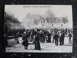 BESANCON - DOUBS - LE MARCHE SUR LES REMPARTS DERASES - REPRODUCTION !!!!!!! - Besancon