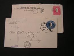 USA 2 Alte Briefe  1903 , 1904 - 1901-20