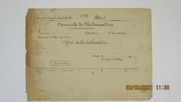 1928 (S.D.) CONSTRUCTIONS NAVALES / DEMANDE DE RECLAMATION OUVRIER D'ATELIER - Boats