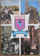ISRAEL JERUSALEM OLD CITY PANORAMA DAVID CITADEL GATE WALL CHURCH PICTURE PHOTO POSTCARD CARTOLINA ANSICHTSKARTE PC CPM - Israele