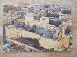 ISRAEL JERUSALEM JAFFA GATE CITADEL DAVID TOWER WALL OLD CITY JUDAICA POSTCARD CARTOLINA ANSICHTSKARTE PC CPM - Israele