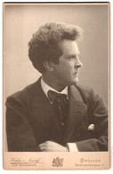 Fotografie Hahn, Dresden, Ferdinandstrasse 11, Mann Mit Krawatte Im Portrait - Personnes Anonymes