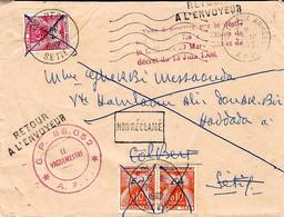 1962- Env. Du 25-10-62 En F M  Pour Colbert TAXEE 25 C  Taxes Françaises Surcharge E A Manuelle + RETOUR / A L'ENVOYEUR - Argelia (1962-...)