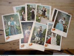 SUISSE : Lot De 20 Cartes Postales Costumes Cantonaux ................ 201101-1706 - Unclassified