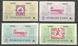 Haiti,Olympic Games From 1896-1968 Marathons 1969.,complete,MNH - Haiti