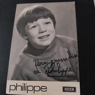 Philippe D'Annevoy 1969 Photo Dédicacée - Cantantes Y Músicos