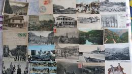 Lot De 100 Cpa Monde Nombreuses Animations - Villes-villages-vues (8) - 100 - 499 Postcards