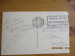 Rouen Fetes Gastronomiques Du 5.13. Octobre 1935 Flamme Flier - 1921-1960: Modern Period