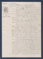 Hypothèque à Moulins, Gilbert Reynaud, Marchand De Bois, Contre Gilbert Bogros, Scieur De Long à Moulins. Manuscrit. - Manuscritos