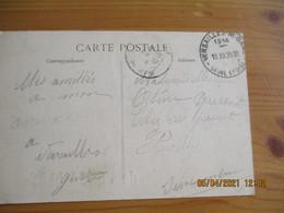 1914 Versailles Notre Dame Obliteration Horodateur - 1877-1920: Semi Modern Period