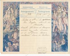 Luxe Telegram Marriage 1927 – Allegories, Fruit Basket - Altri