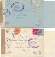 2 L Avec Contenu – Binche & Bonne-Espérance 1942 Vers Es-pagne - Camp De Concentration Miranda De Ebro - Censure - Covers