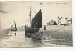 De Panne - La Plage Et La Dique - Vissersboot  - Verzonden - De Panne
