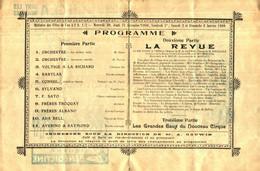 """Cl 20 P 01) Programme Et Publicités """"1909"""" (Format A 4) - Programs"""