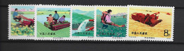 CHINE 1975 Yv 2001/5 MNH Neufs** - Unused Stamps