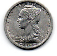Cameroun  -  1 Franc 1948  --état  TTB+ - Kameroen