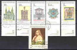 Tchécoslovaquie 1968 Mi 1798-1803 Zf (Yv 1647-52 Avec Vignettes), Obliteré - Used Stamps