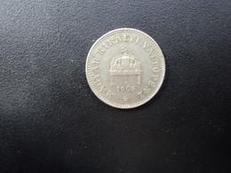 EMPIRE AUSTRO - HONGROIS : 20 FILLÉR   1908 KB    KM 483    SUP - Hungary