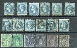 FRANCE - LOT DE 18 CLASSIQUE POUR ETUDES COTE 33E - 1863-1870 Napoleone III Con Gli Allori