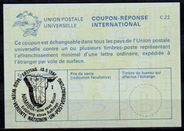UNITED NATIONS VIENNA NAMIBIA ( SWA ) Eine Neue Nation 10.05.91 Int. Reply Coupon Reponse IRC IAS Antwortschein La25  1 - Namibia (1990- ...)