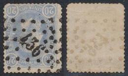 """émission 1869 - N°31 Obl Pt 436 """"Merxem"""". Deux Coins Arrondis, Voir Scan.  / COBA : R ! - 1869-1883 Léopold II"""